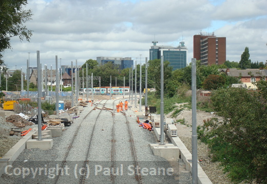 Metrolink South Manchester Line - July 2010 - Construction Works