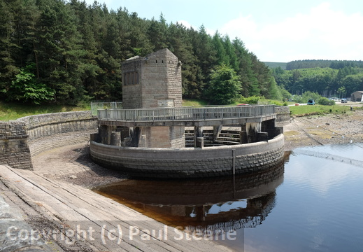 Errwood reservoir overflow
