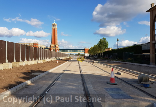 Metrolink Trafford Park line - Construction Works - August 2018